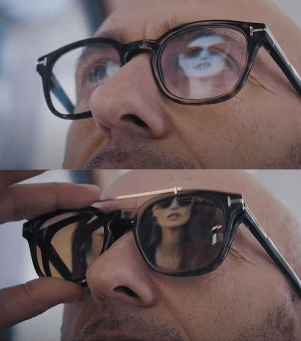 Tom ford occhiali con clip on