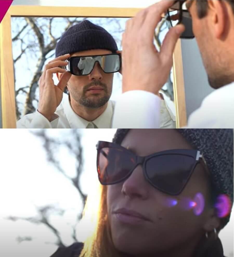 ragazzo e ragazza indossano occhiali da sole Tom Ford per Forlini Optical
