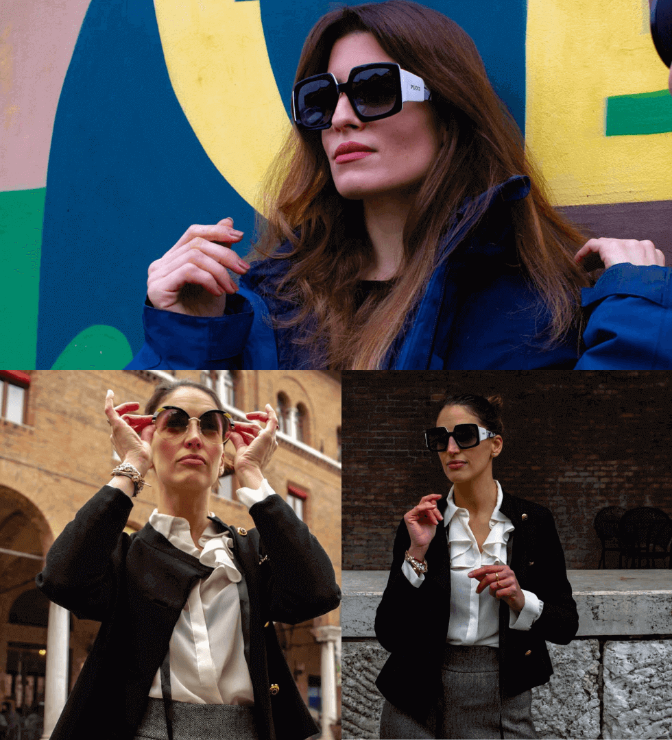 modelle indossano occhiali da sole donna Emilio Pucci per Forlini Brand News