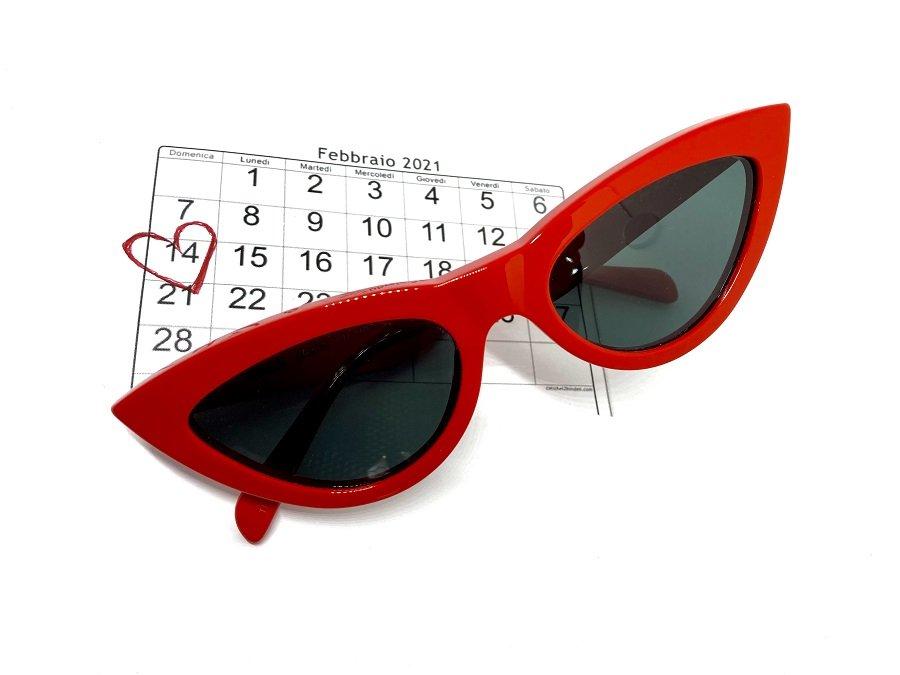 occhiale da sole Celine rosso