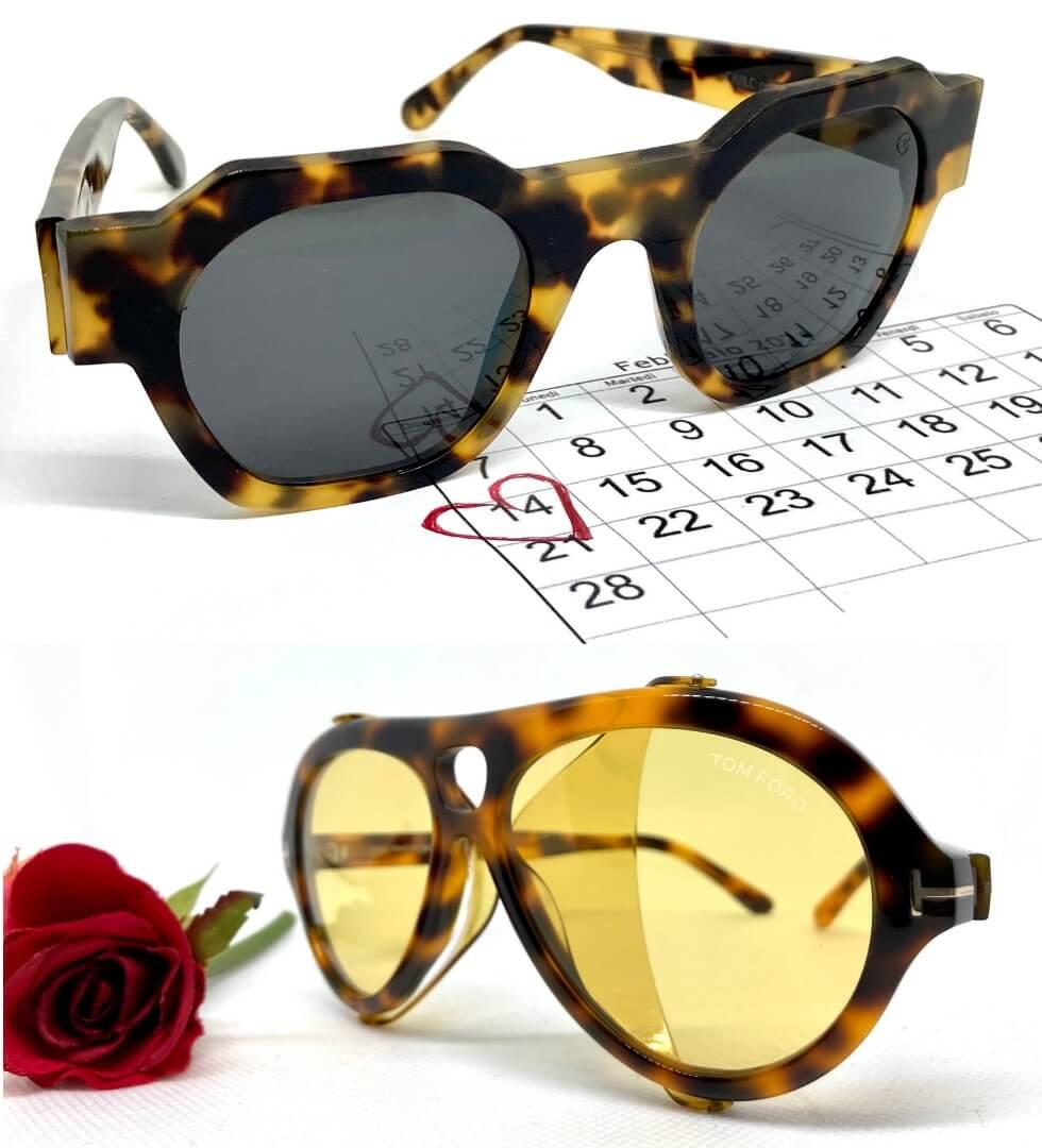 occhiali da sole uomo modello Carlo Nannini e Tom Ford