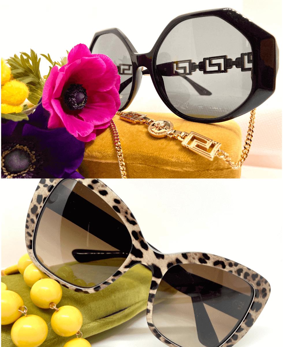idee regalo festa della donna occhiali da sole Versace e Dolce e Gabbana