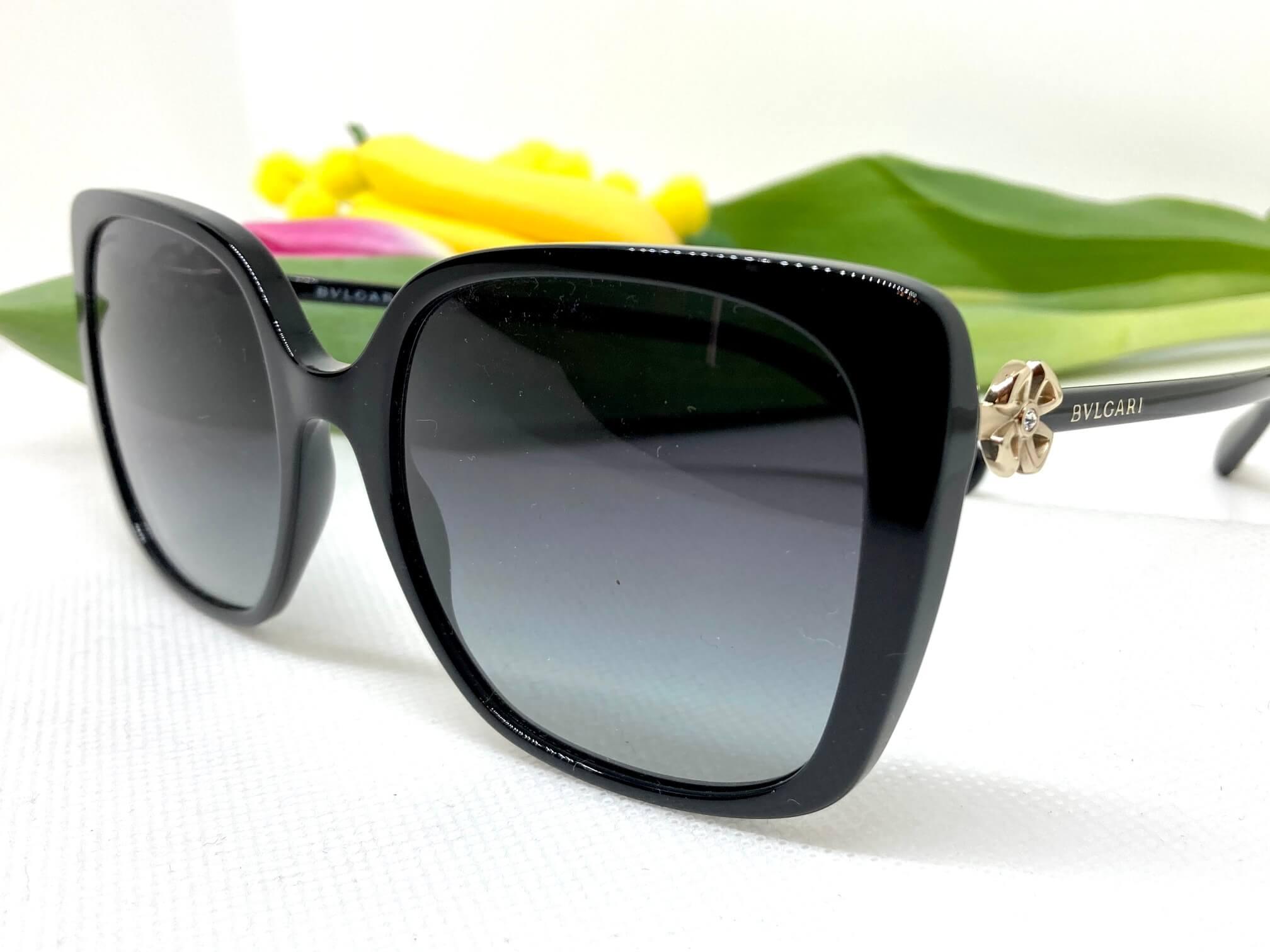 occhiali da sole donna Bulgari 8225 con fiore
