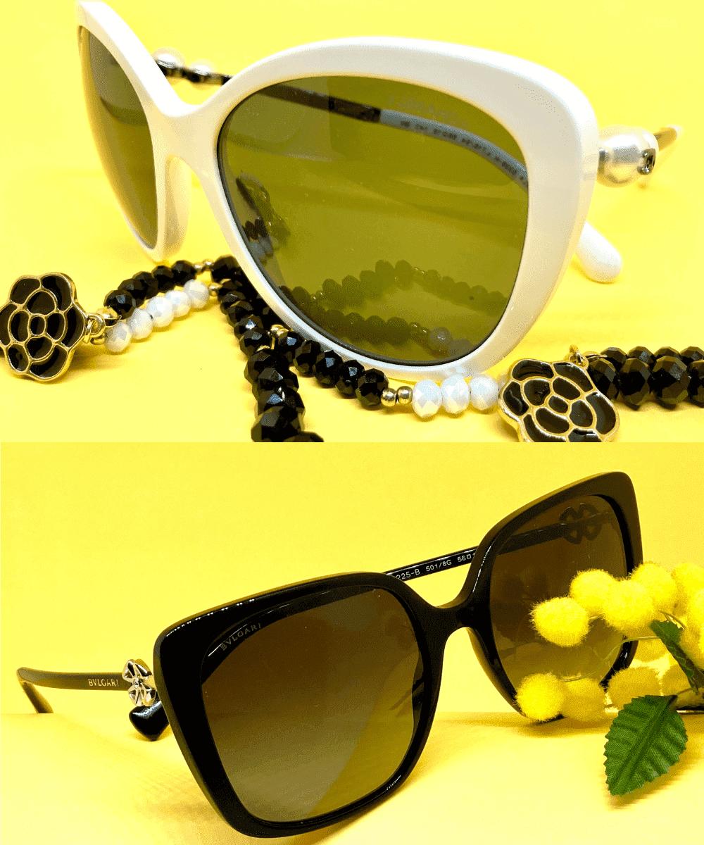 occhiali da sole donna chanel e bulgari