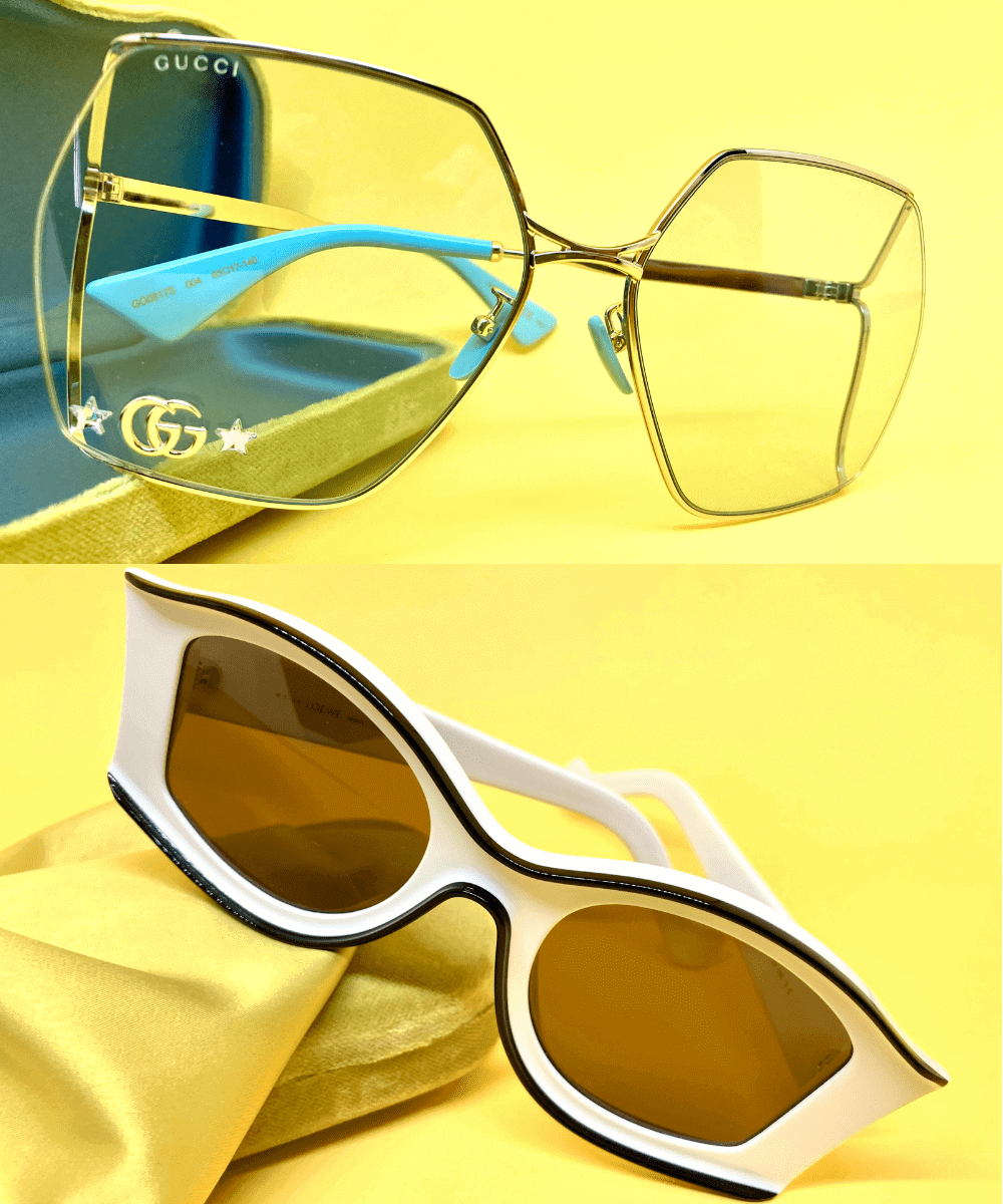 occhiali da vista gucci e occhiali da sole loewe