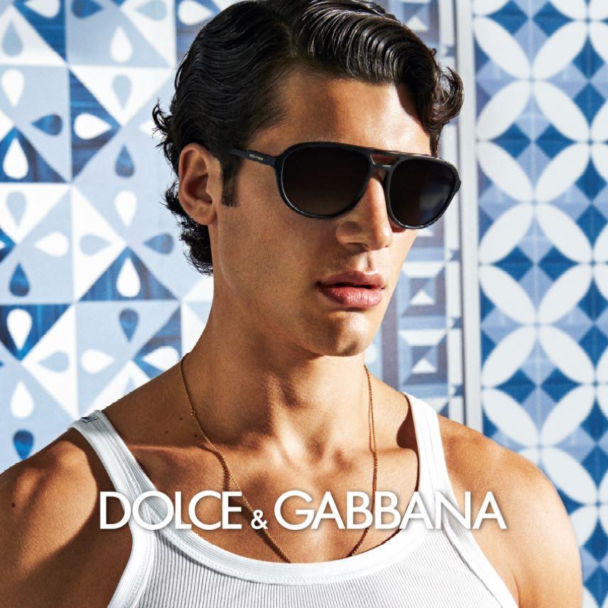 Dolce & Gabbana occhiali da sole uomo indossati da modello