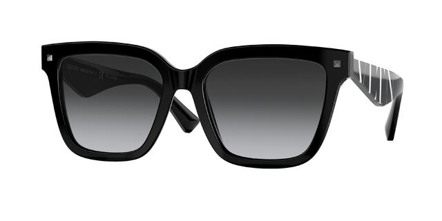 occhiali da sole Valentino montatura nera e stanghette a righe