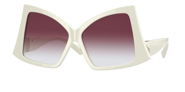occhiali da sole Valentino da donna maxi lenti colorate e montatura bianca